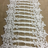 "Trim Lace Venise by the Yard Floral Gate, 10"" Wide, Choose Color, Multi-use Garments Tops Table Runner Bridal Slip Extender DIY Sewing Decoration Costumes"