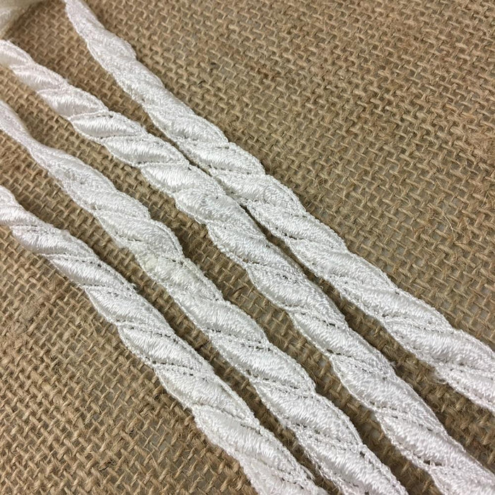 "Lace Trim Rope Pattern 1/2"" Wide Quality Venise. Choose Color. Multi-Use ex. Garments Bridals Decoration DIY Sew Craft Costumes Scrapbooks"