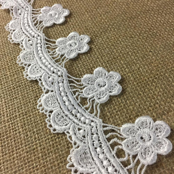 Lace Trim Scallops and Hanging Daisy Venise 2.5