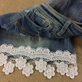 "Lace Trim Scallops and Hanging Daisy Venise 2.5"" Wide, Choose Color. Multi-Use ex: Garments Tops Decoration Crafts Costume Veil Scrapbooks"