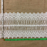 "Trim Lace Venise by the Yard Royal Elegance Design, 7"" Wide, Choose Color, Multi-use Garments Tops Table Runner Slip Extender DIY Sewing Decoration Costumes"