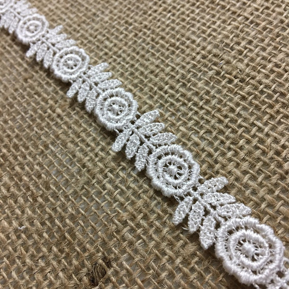 Trim Lace Venise Happy Flower Double Border, 0.5