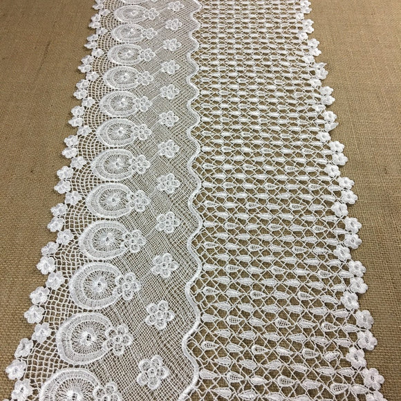 Wide Trim Lace Venise Daisy Rain Wave Design, 13