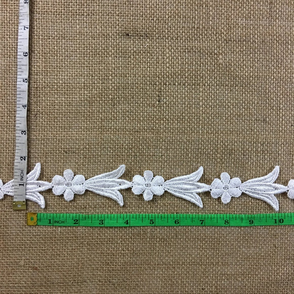 Trim Lace Venise Daisy Tulip Angel Dance, Double Border, Cut or use as yardage, 1.75