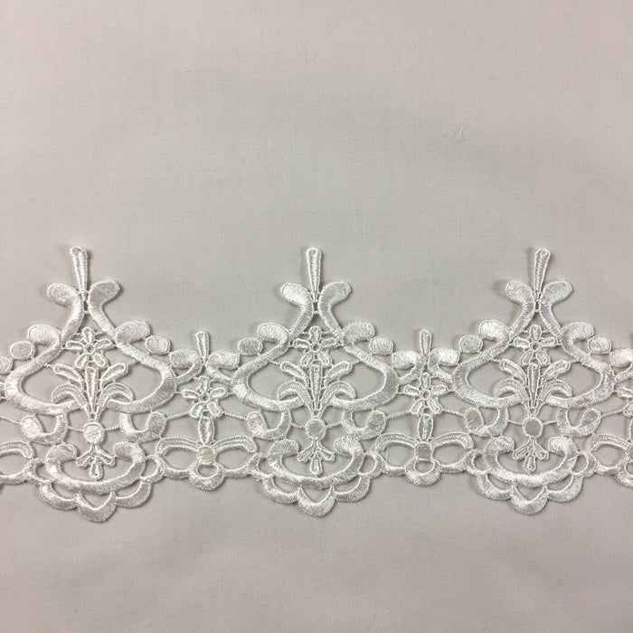 "Trim Lace Heart Temple Design Venise, 5"" Wide, Choose Color, Multi-Use Garments Tops Veil Costume Slip Extension Sash Decoration Craft DIY Sewing"