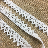 "Cluny Trim Lace Natural Cotton, 0.4"" Wide, Choose color, Yardage Vintage Antique Irish Edging, Multi Use: Garments Arts Crafts Costumes DIY Sewing"