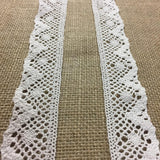 "Cluny Trim Lace Natural Cotton 1.5"" Wide Ivory Yardage Vintage Antique Irish Edging, Multi Use: Garments Arts Crafts Costumes DIY Sewing."