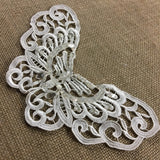 "Applique Butterfly Beaded Piece Lace Embroidery Venise Yoke, 5.5""x9"", Choose Color. Multi-Use Garments Bridal Tops Costumes Crafts DIY Sewing"