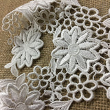 "Lace Applique Floral Piece Embroidery Venise Yoke Neckpiece, 9""x11"", Choose Color. Multi-Use Garments Bridal Tops Costumes Crafts DIY Sewing"