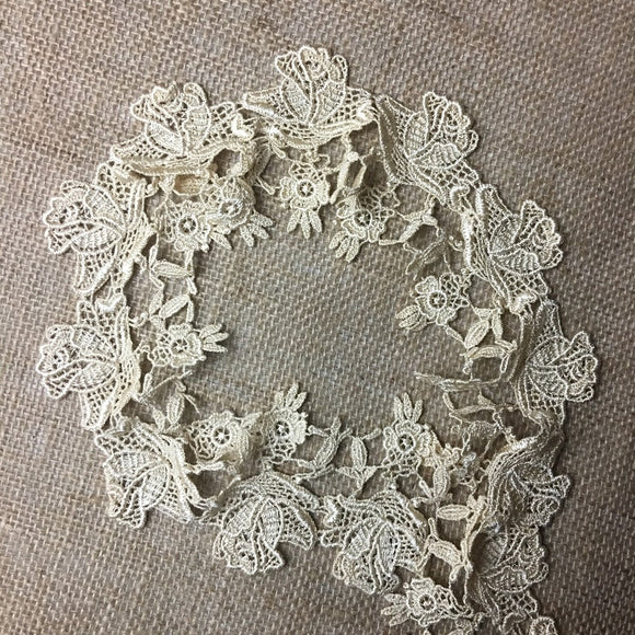 Lace Trim Rose Flower Elegant Venise 3