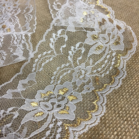 Raschel Golden Trim Lace 4