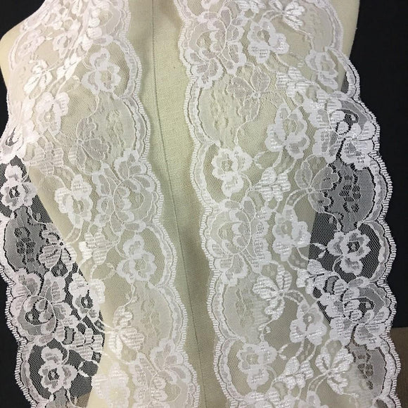 Raschel Trim Lace White 5