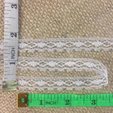 "Raschel Trim Lace White, 0.4"" Wide, Narrow Geometric Design with Scallops. Multi-Use ex: Garments Edging Crafts Scrapbooks Veils Costumes"
