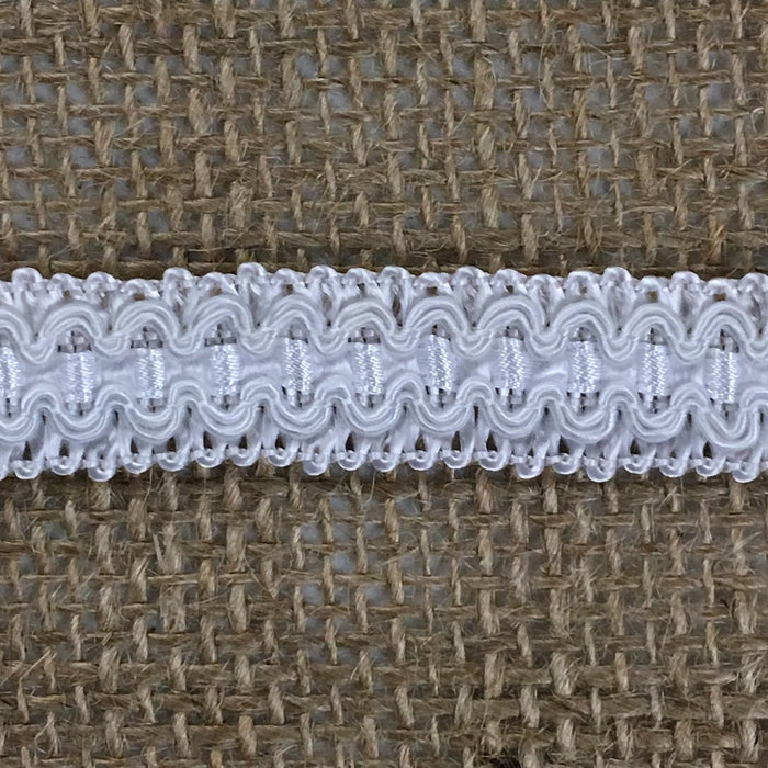 "Gimp Braid Trim White, 1/2"" Wide by the yard Fancy French Chinese, Choose multiples of 10 or 30 Yards. Multi-use Garments Costume Scrapbooks Quilting"