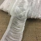 "Chainette Fringe Trim Lace 2"" Wide, Shiny Rayon Hanging Fringe Yardage, Choose Color, Multi-Use Garments Bridal Decorations Crafts Veils Costumes"