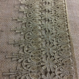 "Gold/Silver Trim Lace Metallic Antique Vintage Venise, 4.5"" Wide, Choose Color, Multi-Use Garments Decoration Altar Craft Costumes Crowns DIY Sewing"