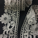"Gold/Silver Trim Lace Metallic Antique Vintage Venise, 3.25"" Wide, Choose Color, Multi-Use Garments Decoration Altar Craft Costumes Crowns"
