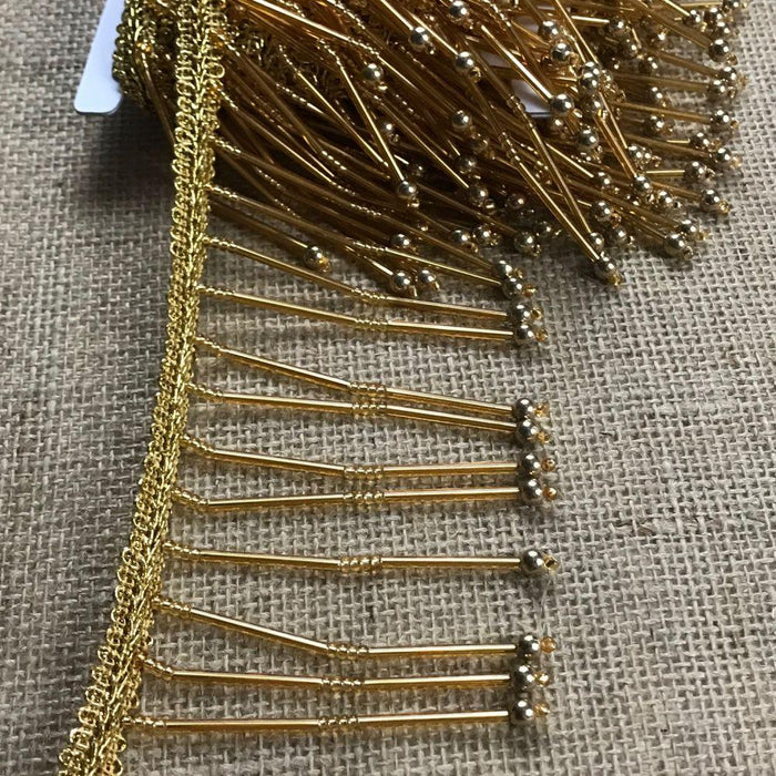 Beaded Fringe Trim Dangling hanging beads Lampshade Garment DIY Sewing Art Craft Dance Theater Costume Gold Silver Decoration Encaje