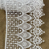 "Lace Trim Classic Window Fancy Drapes Design Venise, 4"" Wide, Choose Color. Multi-Use Garments Bridal Decoration Slip Extender Veils Table Runner"