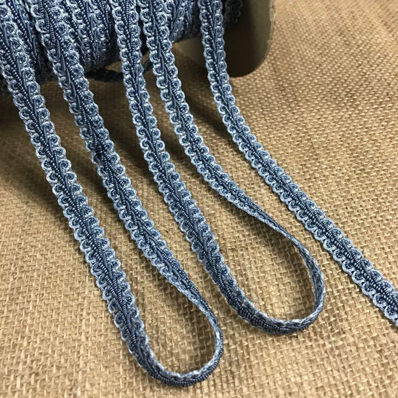 Gimp Braid Trim Denim Blue 2-Tone, 1/2