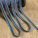 "Gimp Braid Trim Denim Blue 2-Tone, 1/2"" Wide by the yard Fancy. Multi-use Garments Decoration Costume Art Craft Scrapbooks Quilting"