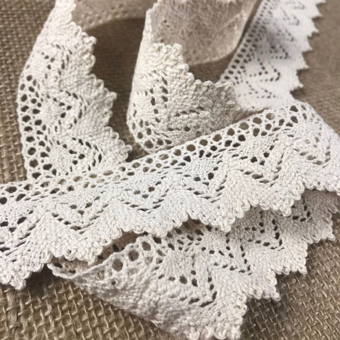 "Cluny Trim Lace Natural Cotton 1.25"" Wide Choose Color Yardage Vintage Antique Irish Edging, Multi Use: Garments Arts Crafts Costumes DIY Sewing."