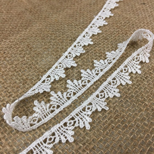 "Lace Trim Classic 1/2"" Wide Simple Venise Edging, Choose Color, Multi-Use Garments Bridal DIY Sewing Edging Crafts Veils Costumes Scrapbook"