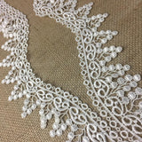 "Lace Trim Grape Vine Venise, 2"" Wide, Choose Color. Multi-Use Garments Bridal DIY Sewing Slip Extender Crafts Veils Costumes Scrapbook"