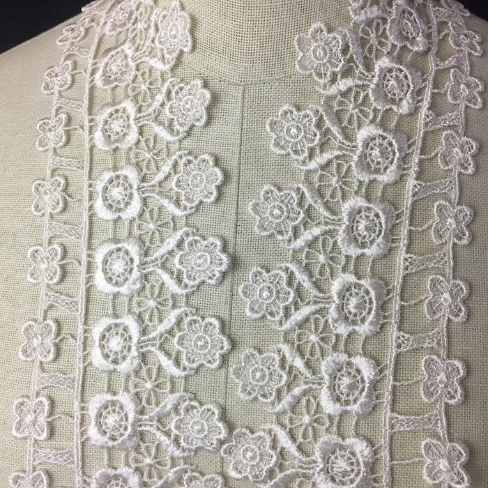 "Lace Trim Quality Venise, 3"" Wide, Choose Color, Multi-Use Garments Bridal DIY Sewing Slip Extender Crafts Veils Costumes Scrapbook"