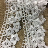 "Lace Trim Daisy Dance Venise, 2"" Wide, Choose Color. Multi-Use Garments Bridal DIY Sewing Slip Extender Crafts Veils Costumes Scrapbook"