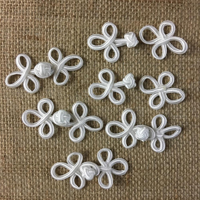 Frog Button Three Loop Functional Traditional Chinese Fastener Closure, Choose Color, Multi-Use Garments Tops Decorations Crafts Costumes