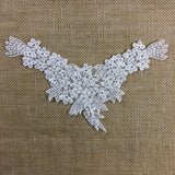"Beaded Applique Piece Lace Yoke Neckpiece Eagle, 11""x7"", Choose Color, Multi-Use Garments Dance Theater Costumes Tops Decoration DIY Sewing"