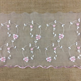 "Lace Trim Scalloped Embroidered Sheer Organza, 7""-9"" Wide, Choose Color, Multi-Use Garments Gowns Veils Costumes Slip Extender, DIY Sewing, Sheets"