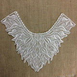 "Beaded Applique Piece Lace Yoke Neckpiece Elegant Wild Bohemian, 15""x12"", Choose Color, Multi-Use Garments Dance Theater Costumes Tops DIY Sewing"