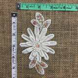 "Lace Applique Piece Embroidered Multi-Layered Beaded Sequinned, 3""x5"", Choose Color, Multi-Use Garments Bridal Costume Communion Scrapbook DIY Sewing"