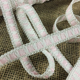 "Braid Lace Trim,1/2"" Wide, Choose Color White or Pink, Multi-Use Garment Bridal Communion Decoration DIY Sewing Craft Costume Scrapbook Runner"