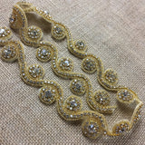 "Rhinestone Bling Trim Crystal Cup Chain Sash Belt Sew or Hot Glue Gun or Fabric Glue, 1.25"" Wide, Choose Color. Multi-Use Dress Bridal Sash Crafts Jewelry"