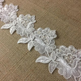 Bridal,Veil,Lace,Trim,Classic,Rose,Flower,Design,Alencon,Hand,Beaded,Sequined,Corded,Organza,Wedding,Sheer,Embroidered,Lace,Table Runner,Cover,Events,Arts and Crafts,Scrapbook,Funeral,Casket,Coffin,Victorian,Traditional,DIY Clothing,DIY Sewing,Proms,Bridesmaids,Encaje,Retro,French,by,the,Yard,Yardage,B1805D3