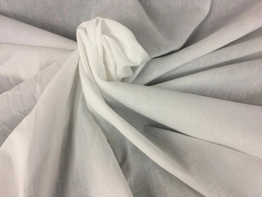 "Lawn Cotton Fabric, Plain Soft Cotton Fabric, 58"" Wide, White, Many uses Garments Costumes Curtains Table Cover DIY Sewing Back Drop Communion"