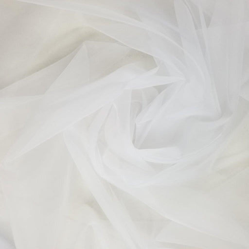 "Super Organza Fabric, 60"" Wide, White, High Quality, Smooth Slick Sheer Organza, Multi-use Garment Communion Christening Bridal Decoration"