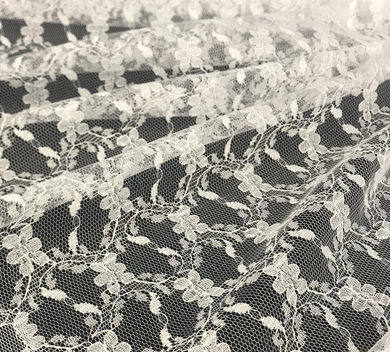"Raschel Lace Fabric Soft Allover Floral Design, 60"" Wide, Choose Color, Multi-Use Garments Costumes Curtains DIY Sewing tablecloth Overlay Backdrop Decoration"