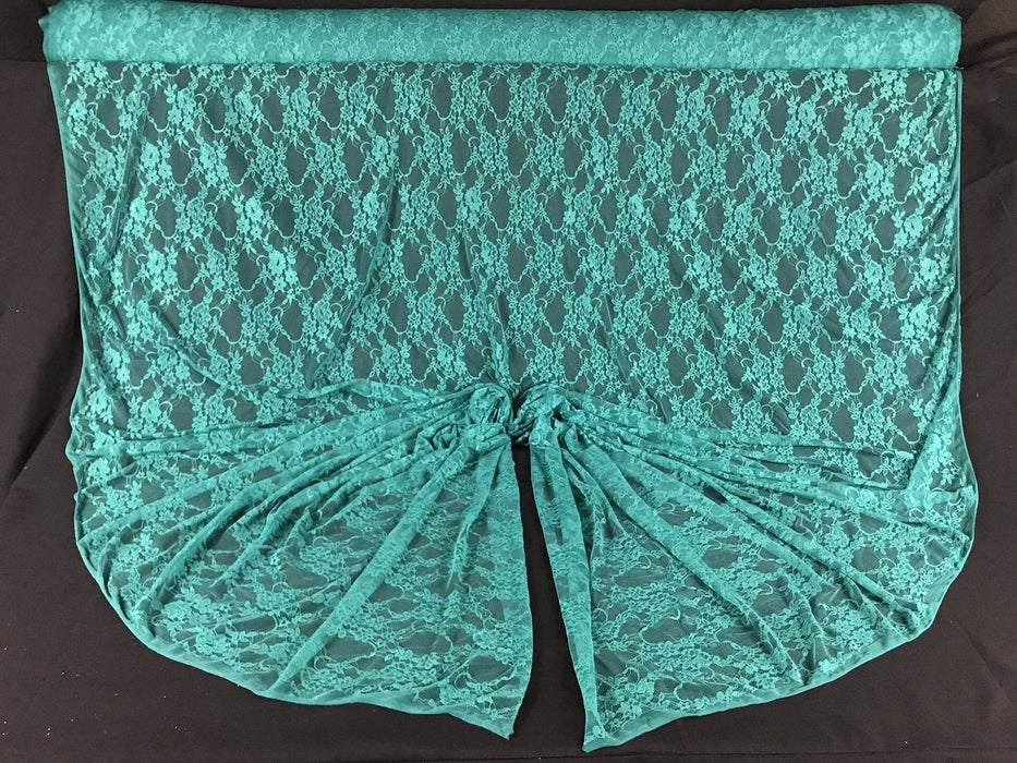 "Stretch Lace Fabric, 4-Way Stretch, Nylon Spandex, 58"" Wide, Choose Color, Multi-Use: Tops Garment DIY Sewing Decoration"