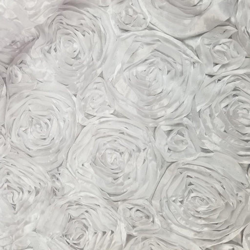 "Satin Rosette Fabric, Satin Ribbon Circle Flower, 50"" Wide, Choose Color, for Bridal Garment Costume Backdrop Table Cover Overlay DIY Sewing"