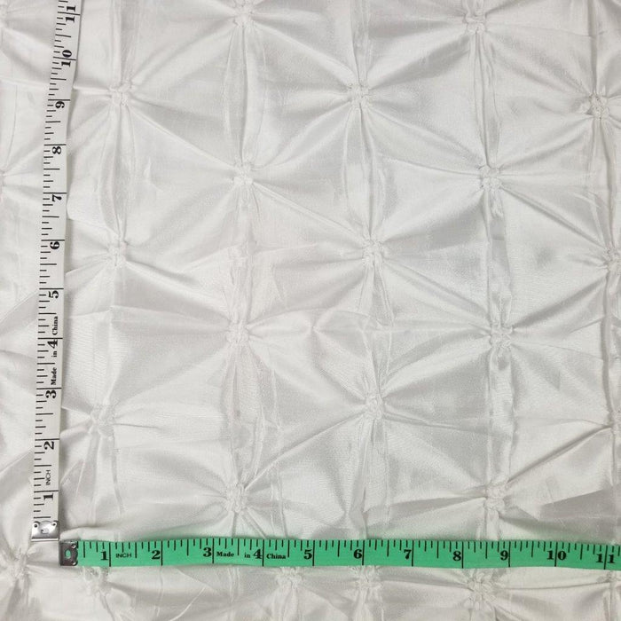 "Popcorn Bellybutton Taffeta Fabric 3D Allover White Color, 56"" Wide, Use for Apparel Tablecloth Overlay Backdrop Costume"