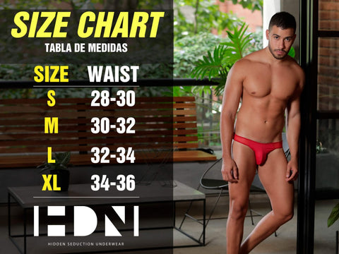 Hidden Seduction Underwear Size Chart Don't be afraid to let your wild side out! Well you can keep a little bit hidden so we're wondering what's hiding behind door #1! But eventually you've gotta let us find out what's hiding DownUnder! This brand is teaming with sexy seduction that is guaranteed to heat things up in the bedroom or where ever it is you would like to take things up a notch.