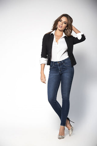 We are sure that you will fit right into these slim fitting high quality butt lifting jeans made especially for you by Mapale! We offer a variety of denim washes from dark to light that include multiple pockets, zip fly, stretch denim, slim legs and a high waist.