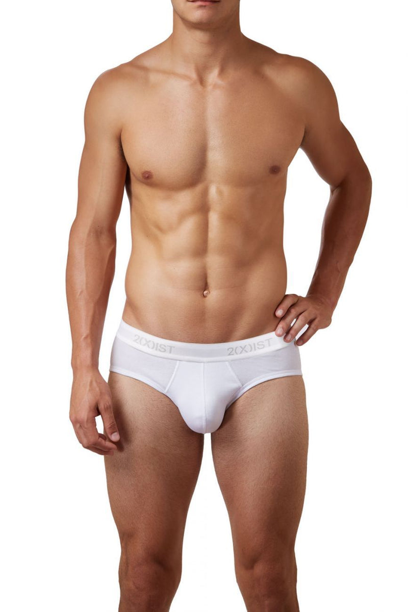 2(X)IST 3102030303 Cotton 3PK Contour Pouch Briefs Color 101NL-White