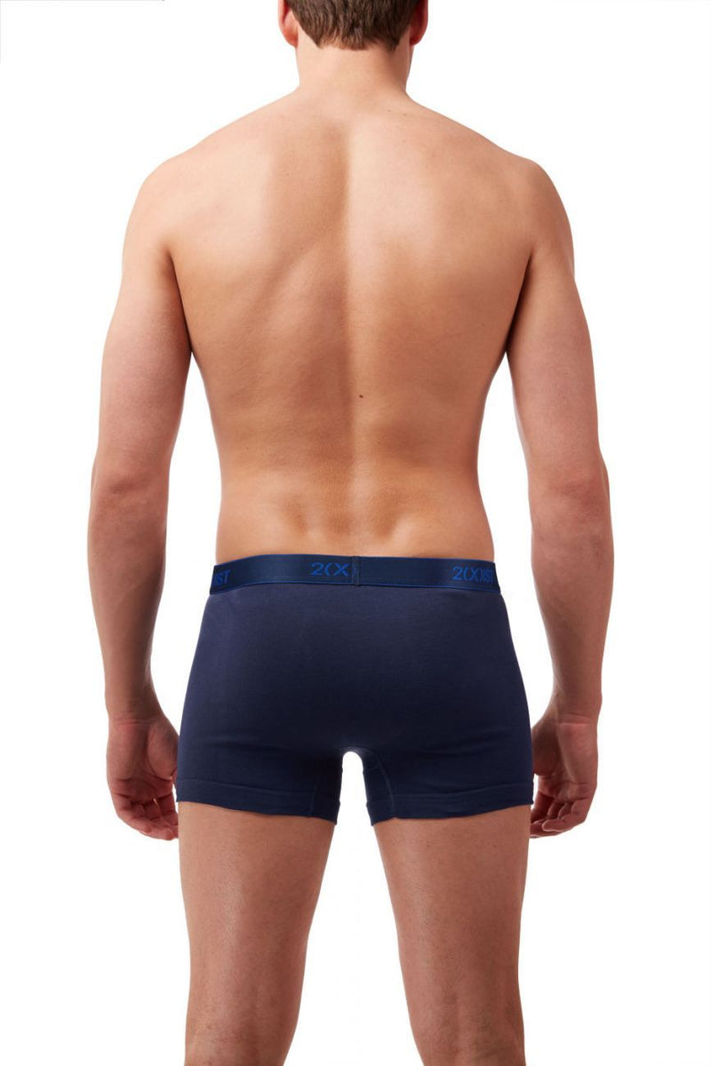 2(X)IST 3102030403 Cotton 3PK Boxer Briefs Color 420NL-Navy-Cobalt-Porcelain