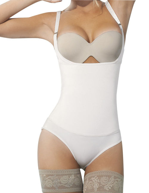 Ann Chery 4012 Latex Body Thong Color Beige