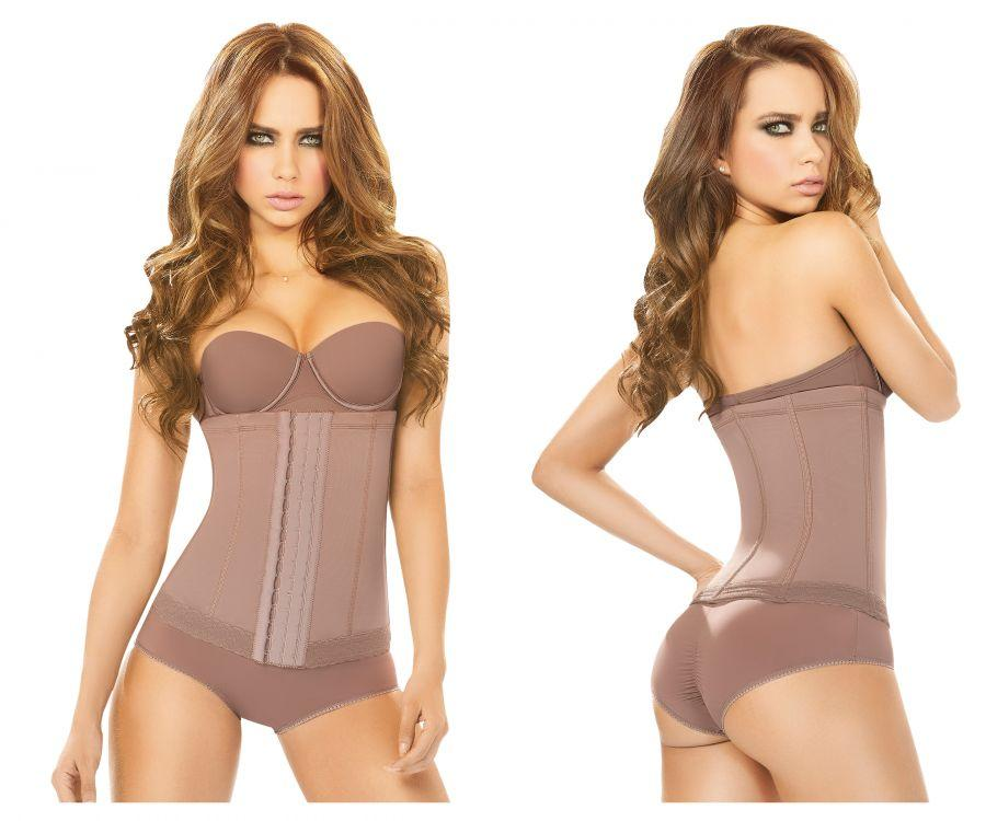 Ann Chery 5175 Powernet waist cincher Color Brown Plus